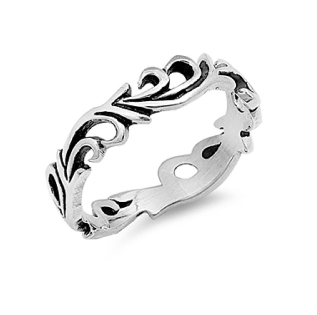 CloseoutWarehouse Sterling Silver Eternal Flame Filigree Ring Size 8