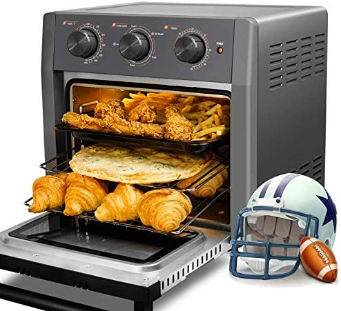WEESTA 19 Quart Air Fryer Toaster Oven, 5-IN-1 Countertop Convection Oven with Air Fry Air Roast Toast Broil Bake Function for Fried Chicken, Steak, Fries, Tater Tots, Chips, Bacon, Pizza, and so on.