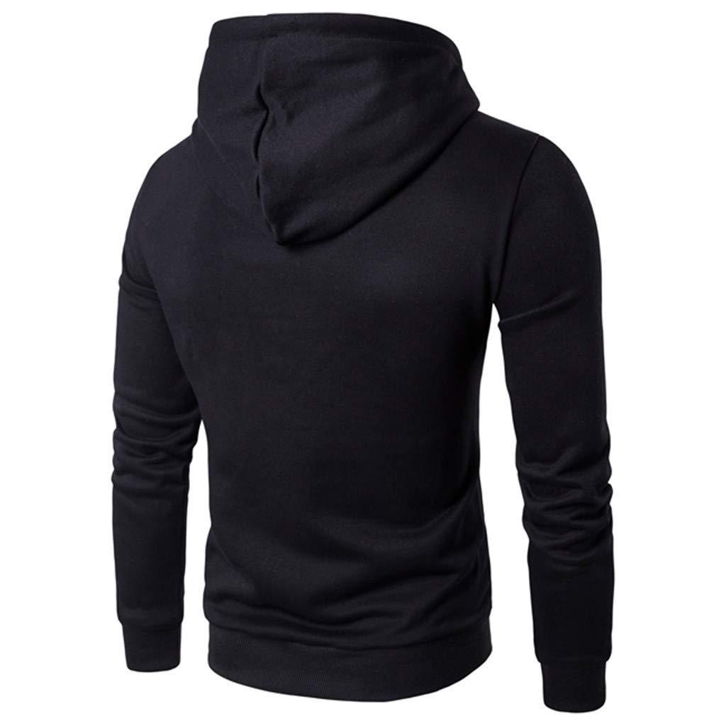manadlian Sweats Homme Autumn 2019 T-Shirt /à Manches Longues Impression de Lettre Pull /à Capuche Manteau Casual Sweatshirt Chaud Veste Haut Slim V/êtements
