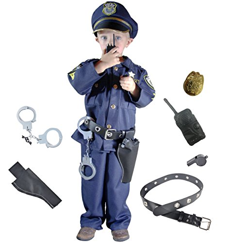 Joyin Toy Deluxe Police Officer Costume and Role Play Kit (Toddler 3-4)