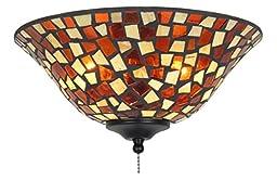 Fanimation G426 Glass Bowl, 13-Inch, Mosaic/Amber/Brown