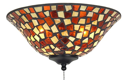 Fanimation Shade (Fanimation G426 Glass Bowl, 13-Inch, Mosaic/Amber/Brown)