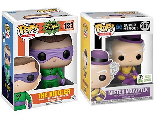 Retro Friends Mister Mxyzptlk Pop! Vinyl Figure 2019 Convention Exclusive Bundled with DC Heroes: Batman Classic TV Series - The Riddler #183 2 Items