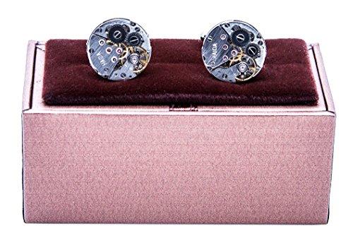 MRCUFF-Steampunk-Watch-Pair-Cufflinks-in-a-Presentation-Gift-Box-Polishing-Cloth