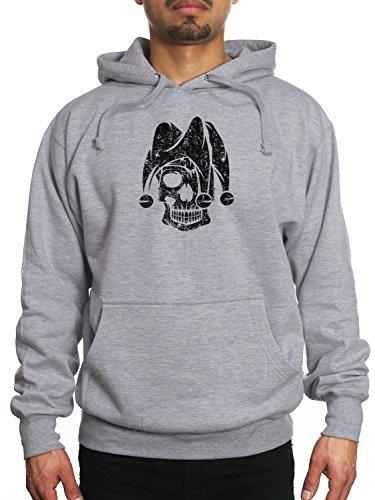 Young Motto Men's Jester Skull Hoodie]()