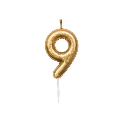 Perles & Co Vela para cumpleaños cifra 9 Yey - Lets Party ...
