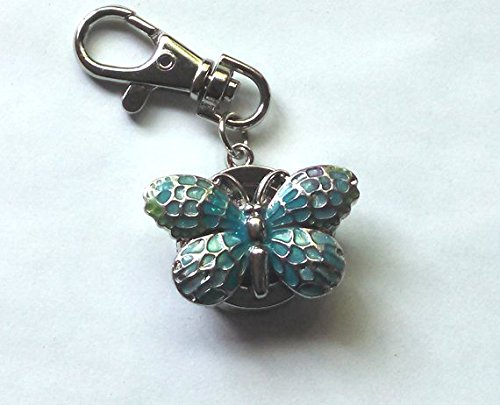 Watch Blue Butterfly Key Chain
