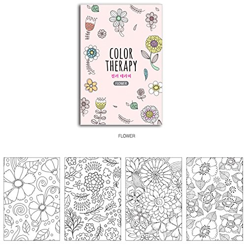 Set Of 4 Mini Coloring Books For Adult Relaxation Color Therapy Anti Stress