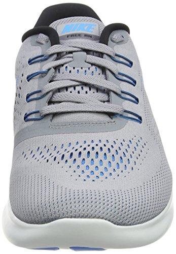 Nike Free Run, Zapatillas de Running Hombre, Gris (Stealth/Blue Glow/Black/Cool Grey), 39 EU
