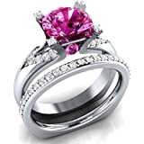 Women Fashion Jewelry 925 Sterling Silver Ruby Gem Wedding Bridal Ring Size 5-11#by pimchanok shop (10)