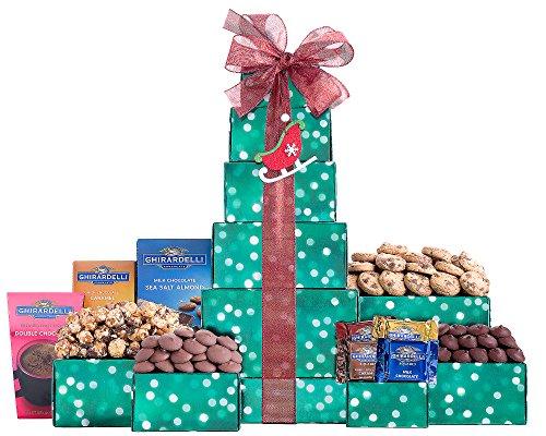 Wine Country Gift Baskets Ghirardelli Dark and Milk Chocolate Tower