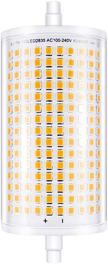 Floor Lamp 118mm 120 LEDs 1600LM J Type 150W Halogen Bulb Equivalent J118 Double Ended Super Bright Floodlight for Landscape Light 1 Pack Warm White 2700K MD Lighting 15W R7S LED Corn Bulb Dimmable