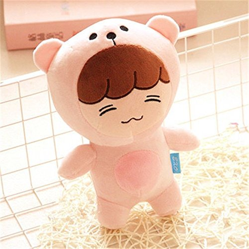 Kpop EXO XOXO Plant#2 Issing LAY Pink Bear Plush Toy Doll Gifts