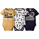 2016 Gerber Baby Boys St Louis Rams 3 Pack Bodysuits 0/3 Months