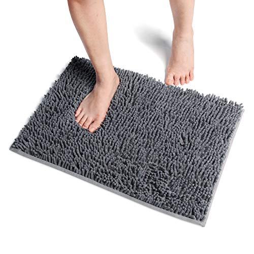 Vdomus  바스  매트 발 닦아 매트 속건흡수 항균 후와(불화) 후와(불화) 통째로 세탁 목욕탕 욕실 현관 매트 40x60cm (그레이)