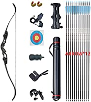 Junxing American Hunting Recurve Bow and Arrow Outdoor Archery Equipment Ilf Socket 30-50 Pounds Bow and Arrow
