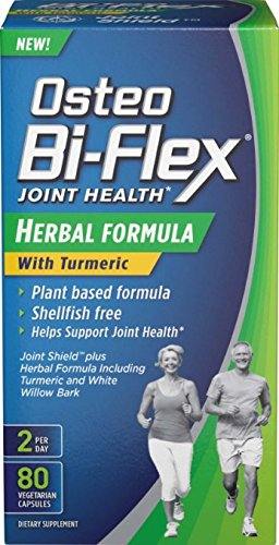 Osteo Bi-Flex Herbal Formula with Turmeric, 80 Count Pack of 2 by Osteo Bi-Flex