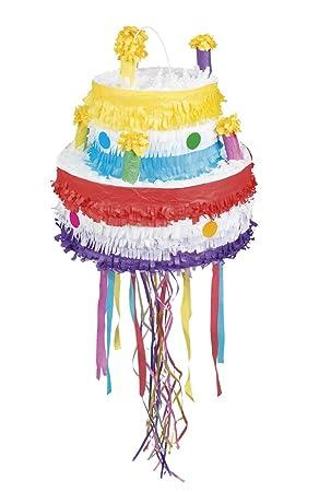 Boland 30937 Piñata Pastel de cumpleaños, Multicolor: Amazon ...