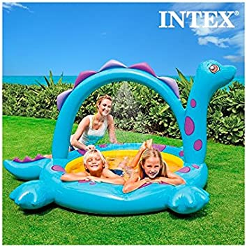 Amazon.es: Piscina Hinchable con Ducha Dinosaurio Intex