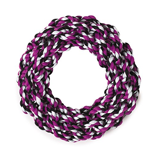 Grriggles Rope Ring Dog Toys, Purple, 7.5