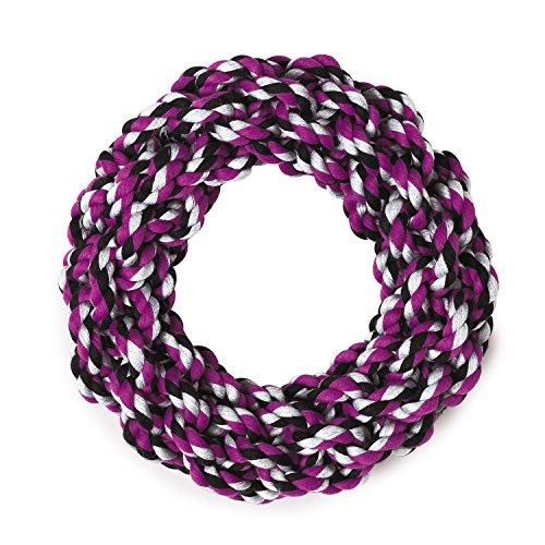 Cotton Tug Ring - Grriggles Rope Ring Dog Toys, Purple, 7.5