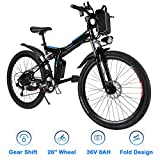 "Bestlucky 26"" Electric Bike with Removable 36V 8Ah Lithium-Ion Battery, Electric Mountain Bike for Adult (US Stock)"