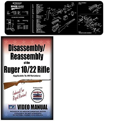 Ultimate Arms Gear AGI DVD Disassembly & Reassembly Course Ruger 10/22 10-22 10 22 Rifles Gun Mat by Ultimate Arms Gear