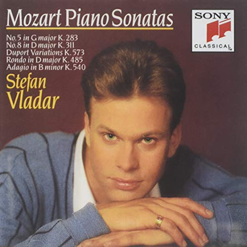 Mozart Piano Sonatas Nos 5 in G K283, No 8 in D K311, Duport in D K573, Rondo in D K485, Adagio in B minor K 540 (Sony) (Mozart Piano Sonata No 8 In A Minor)