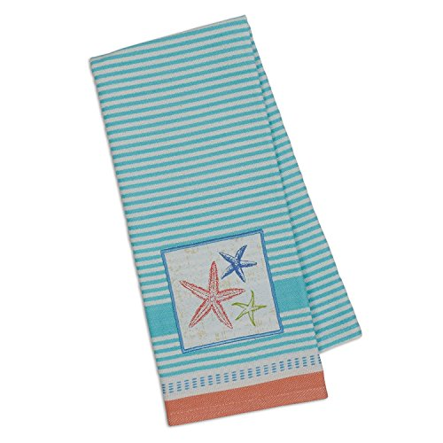Design Imports DII Embellished Dishtowel (Sea Stars)
