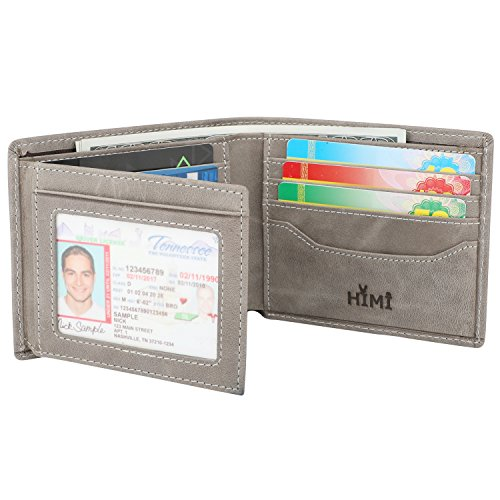- Wallets for Men - RFID Blocking Trifold Genuine Leather Wallet With 2 ID Window
