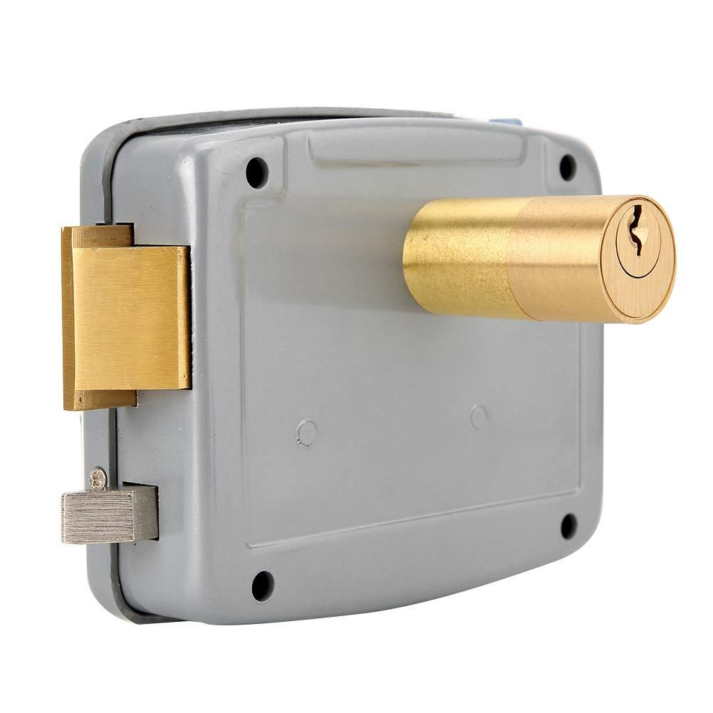 a sinistra Adatto per Sistema Home Video Citofono DC12V Controllo di Accesso Disattivato per Basso Consumo in Acciaio Inox Serratura Magnetica per Comando Elettrico