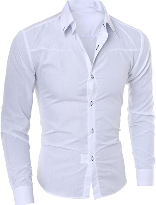 Hombre Camisa Slim Fit Modello STRIR Camisa algodon Hombre, Manga ...