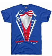 DirtyRagz Men's USA America Merica Tux Tuxedo Suit Costume T Shirt