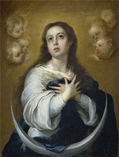 canvas-prints-of-oil-painting-murillo-bartolome-esteban-la-inmaculada-concepcion-ca-1662-30-x-39-inc