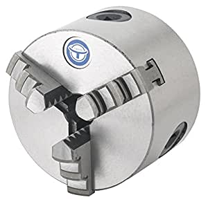 Grizzly G9828 3-Inch 3-Jaw Plain Back Scrol Length Chuck