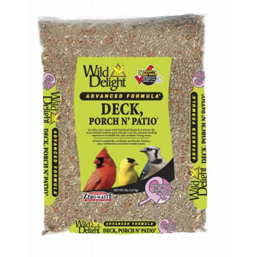 Delight Deck Wild (Wild Delight Deck, Porch N' Patio No Waste Bird Food, 5 lb)