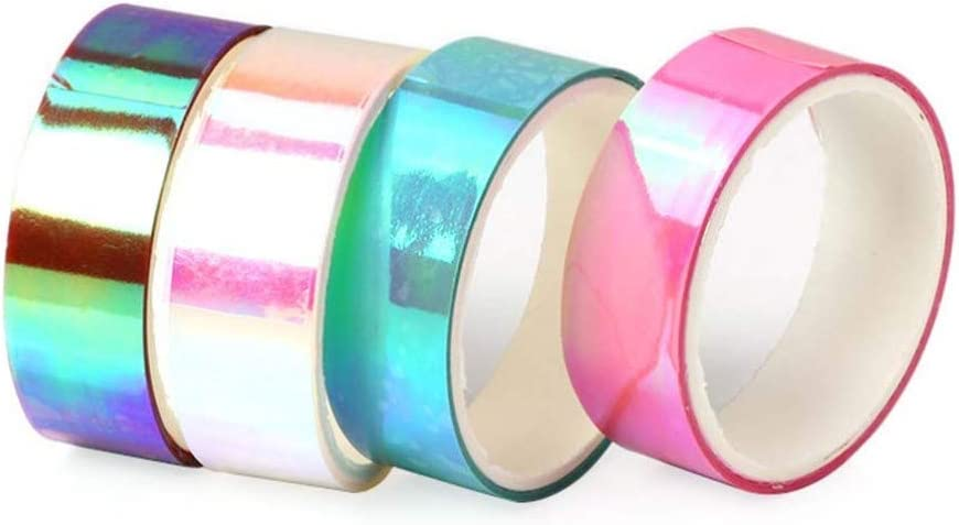 Milisten 20pcs Shiny Craft Tape Removable Decorative Gradient Adhesive Packaging Tape DIY Tape Tape for Journals Book Craft Gift
