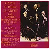 Haydn: String quartet in D, Op. 64 No. 5 - Lark / Mozart: String quartet in C, K. 465 - Dissonance / Beethoven: String quartet in A, Op. 18 No. 5