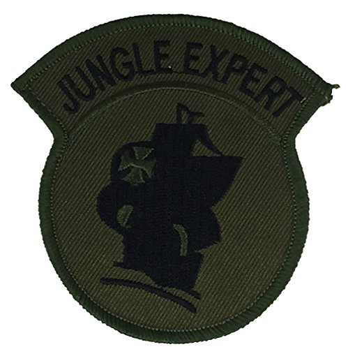 Us Army Retired Patch (US ARMY JUNGLE EXPERT SHOULDER PATCH - OD Green/Black - Veteran Owned Business.)