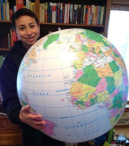 Replogle Inflatable Globe, Political Globe, Light Blue, 24