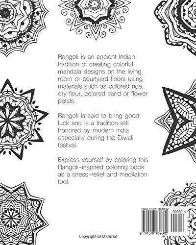 Amazon Com Rangoli Mandala Coloring Book For Adults