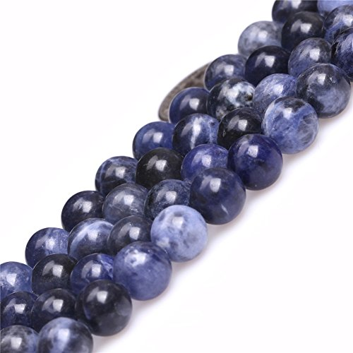 Sodalite Beads for Jewelry Making Natural Gemstone Semi Precious 8mm Round 15