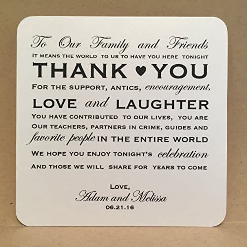 Gift For Wedding Guests Thank You: Amazon.com: Thank You Wedding Cards Reception Placecards
