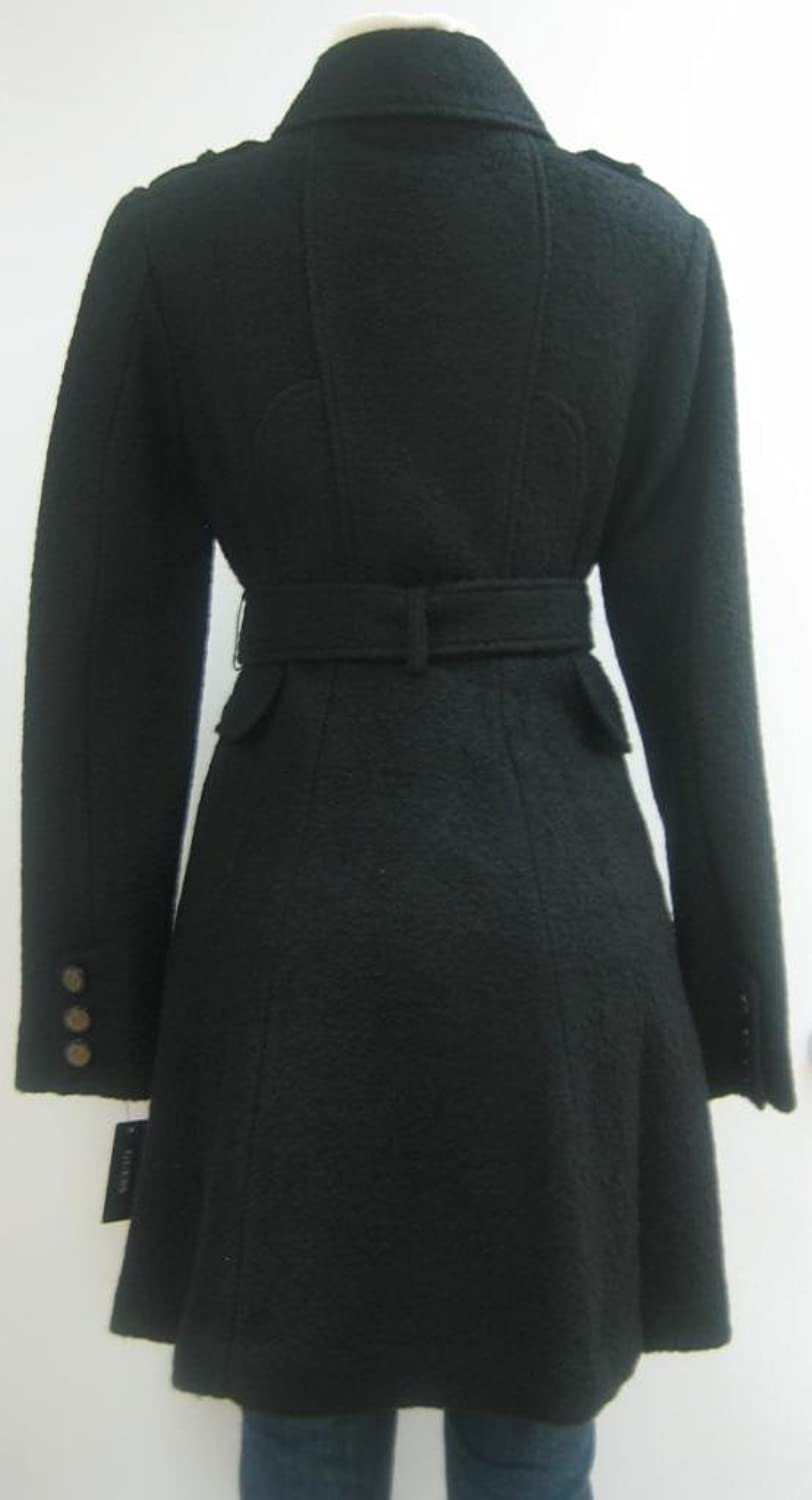Guess Belted Wool Coat, Jacket, Black, Meidum, Mh449