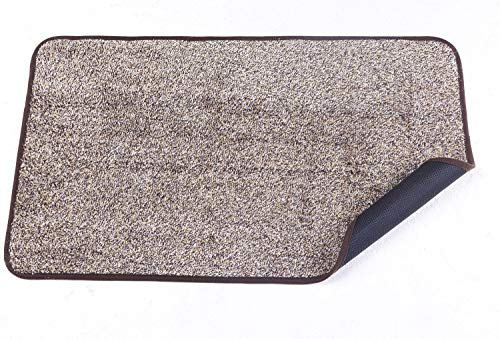 Julifo Door mat (18 x 30) Indoor Super Absorbs Mud Doormat Durable Non Slip No Odor TPR Back (Eco-Friendly Safe Materials) Easy Clean Cotton Kitchen Mat Pet Dog Mat (30