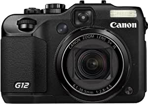 "Canon PowerShot G12 - Cámara compacta de 10 Mp (pantalla articulada de 2.8"", zoom óptico 5x, estabilizador de imagen óptico, vídeo Full HD 1080p) color negro"