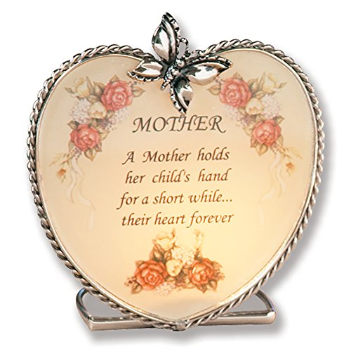 Mom Gifts Glass Heart Candle Holder A Mother Holds Her