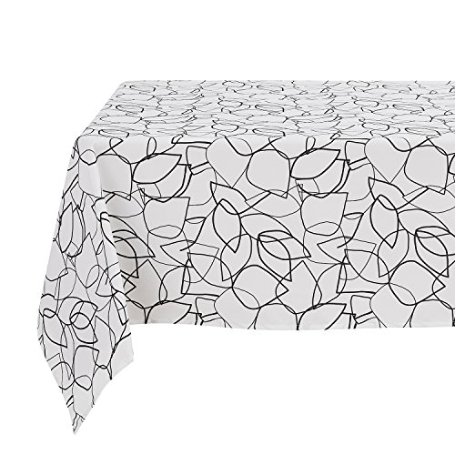 Deconovo Tablecloth Decorative Water Resistant Leaf Geometric Pattern Print Table cloth for Square Table 54x54 Inch (Geometric Leaf)
