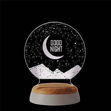 Amazon.com : LED Night Light 3D Stereoscopic Light Negative ...
