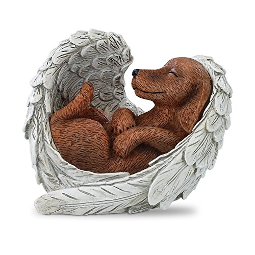Blake Jensen Dachshunds: Furr-ever in Our Hearts Figurine by The Hamilton Collection (Angel Dachshund)